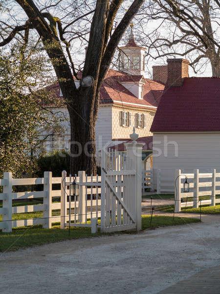 George Washington house Mount Vernon Stock photo © backyardproductions