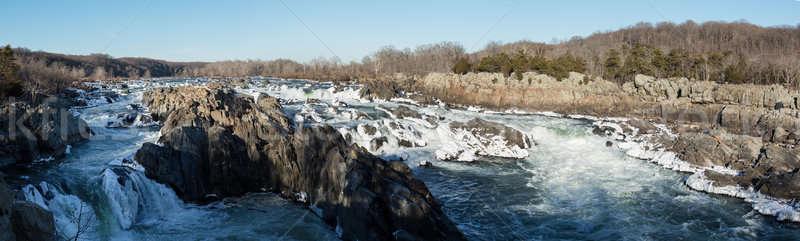 Nagyszerű kívül Washington DC panoráma folyó tél Stock fotó © backyardproductions