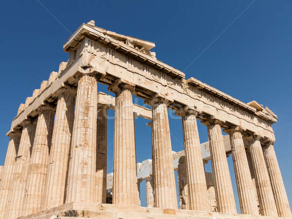 Pormenor colunas Partenon Atenas detalhes ruínas Foto stock © backyardproductions