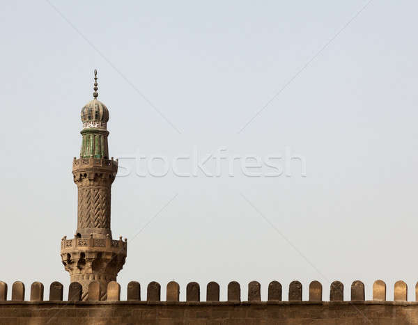 Minaret at Alabaster Mosque Citadel Cairo Egypt Stock photo © backyardproductions