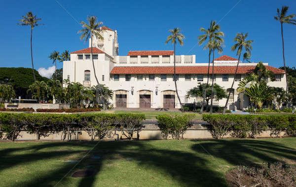 Honolulu ülés kormány spanyol stílus építészet Stock fotó © backyardproductions
