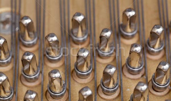 Piano strings in macro Stock photo © backyardproductions