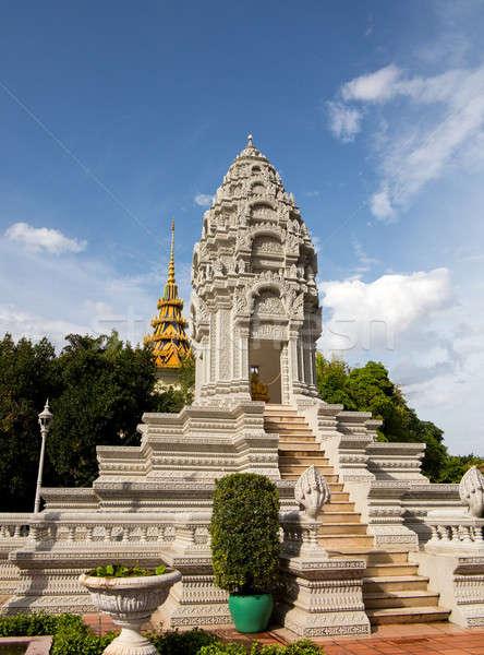 Stupa by Royal Palace Cambodia Stock photo © backyardproductions