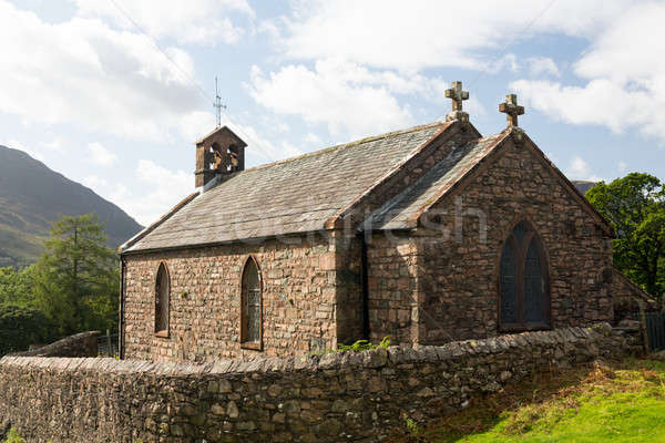 Old stone church in Buttermere Village Stock photo © backyardproductions