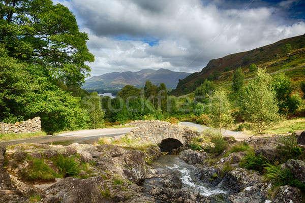 Most mały strumienia lake district tradycyjny kamień Zdjęcia stock © backyardproductions
