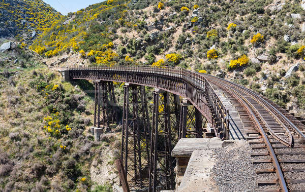 Stock photo: Railway bridge on Taieri Gorge New Zealand