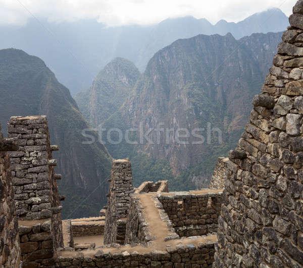 Machu Picchu regio Peru ochtend tonen steen Stockfoto © backyardproductions