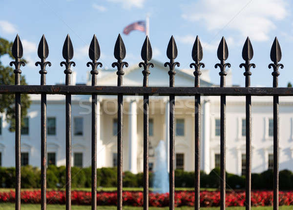 White House Washington DC behind bars Stock photo © backyardproductions