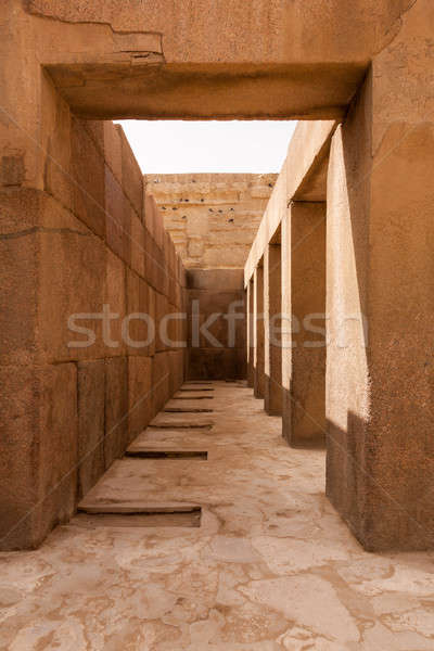 Pillars underneath Sphinx Cairo Egypt Stock photo © backyardproductions