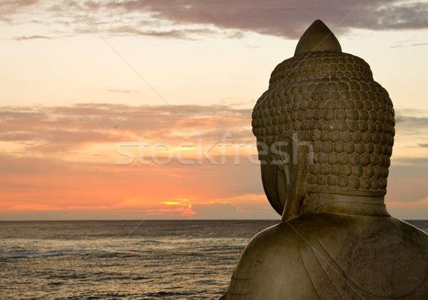 Buddha and sunset Stock photo © backyardproductions