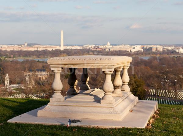 Memorial to Robert E Lee in Arlington Cemetery Stock photo © backyardproductions
