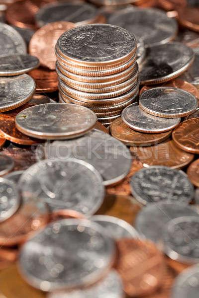 свободный монетами макроса изображение Focus Сток-фото © backyardproductions