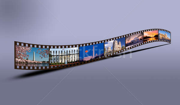Film strip of Washington DC sights Stock photo © backyardproductions