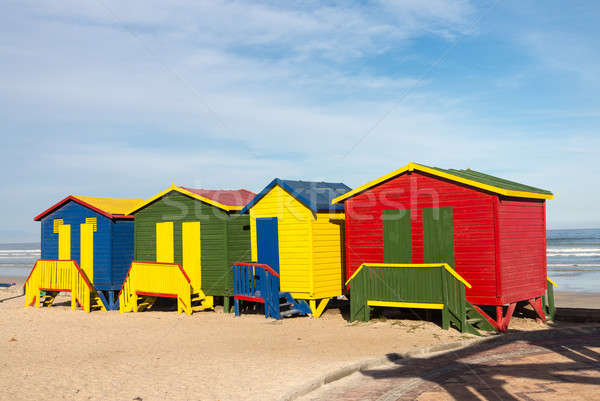Gordons Bay beach huts Stock photo © backyardproductions