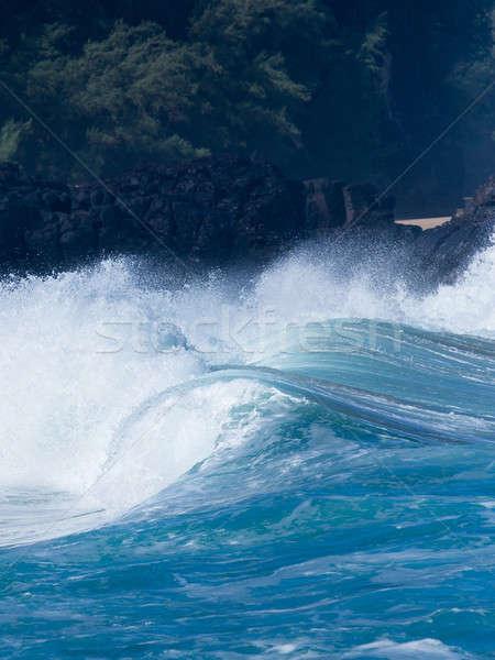 Stock photo: Powerful waves break at Lumahai Beach, Kauai