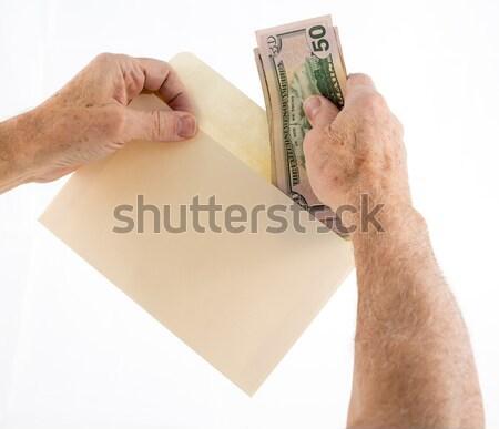 кавказский рук пятьдесят конверт Сток-фото © backyardproductions