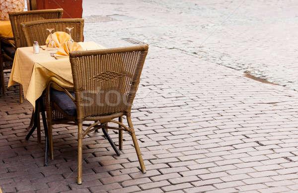 Vacío Servicio Bruselas cuadrados restaurante Foto stock © backyardproductions
