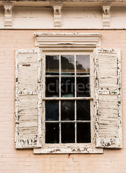 Detail of old window with peeling paint Stock photo © backyardproductions