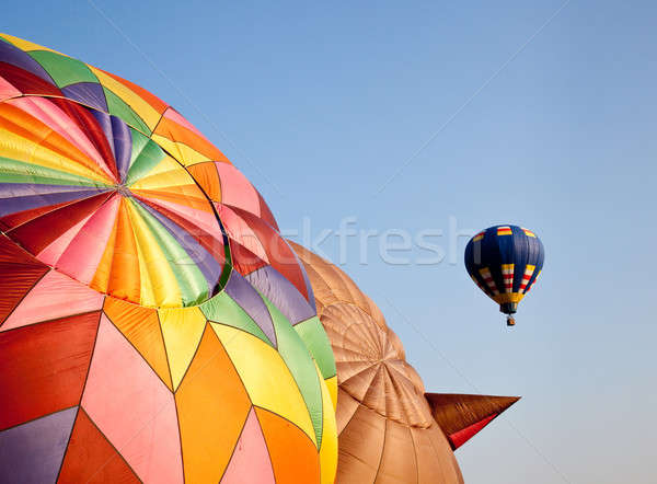 Hot air balloon in the air above two others Stock photo © backyardproductions