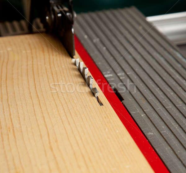 Table vu lame macro coup Photo stock © backyardproductions