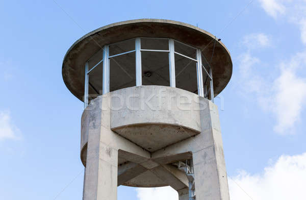 Concrete watch tower in Everglades Florida Stock photo © backyardproductions