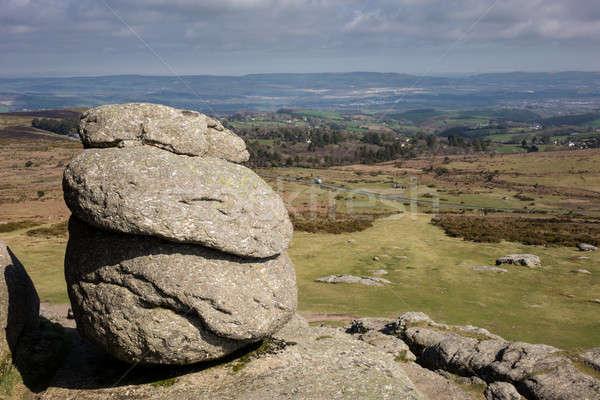 Görmek granit kayalar saman kaya İngiltere Stok fotoğraf © backyardproductions