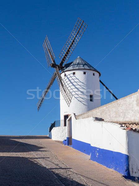 Windmill at Campo de Criptana La Mancha, Spain Stock photo © backyardproductions