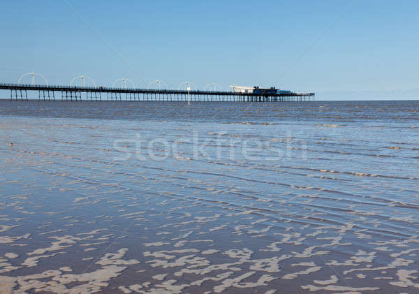 Pier Angleterre insolite combinaison plage Photo stock © backyardproductions