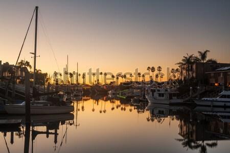 Expensive homes and boats ventura Stock photo © backyardproductions