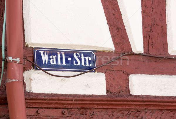 Miasta starówka złe Niemcy Wall Street podpisania Zdjęcia stock © backyardproductions