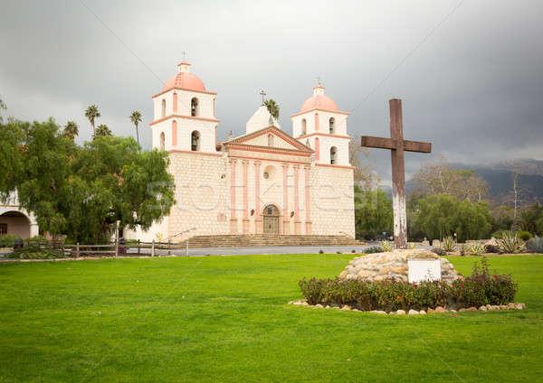 ストックフォト: 曇った · 嵐の · 日 · サンタクロース · ミッション · カリフォルニア