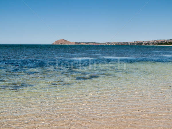 Playa granito isla puerto mar Foto stock © backyardproductions