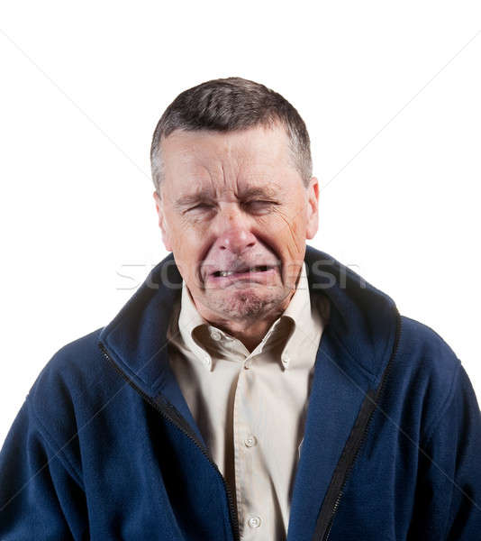 Senior male sneezing Stock photo © backyardproductions