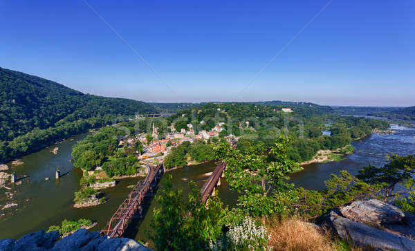 Panorama over Harpers Ferry from Maryland Heights Stock photo © backyardproductions