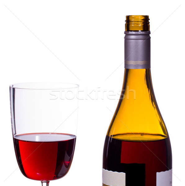 Red wine poured into glass Stock photo © backyardproductions