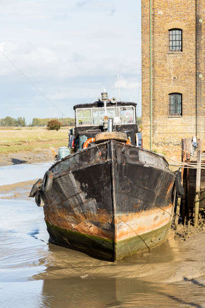 Stock photo: Old Sailing barge house boat at Faversham Kent