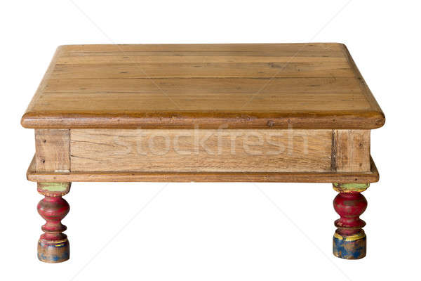 Old artisan table made from worn wood Stock photo © backyardproductions