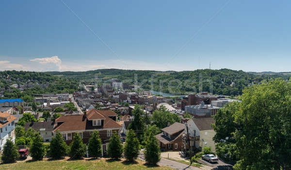 Overview of City of Morgantown WV Stock photo © backyardproductions