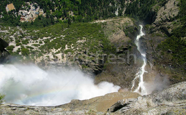 Top yosemite vallei beneden verticaal Stockfoto © backyardproductions