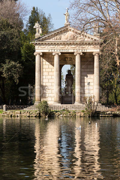 Roma İtalya göl boş villa kış Stok fotoğraf © backyardproductions