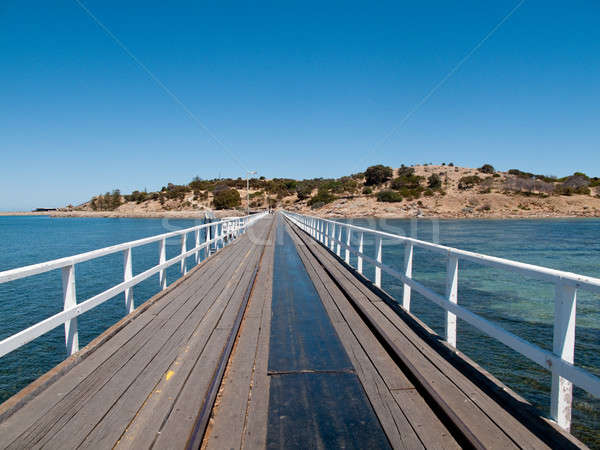 Edad muelle granito isla puerto Foto stock © backyardproductions