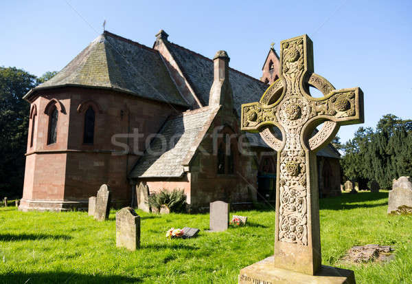 St Hilary Church Erbistock by River Dee Stock photo © backyardproductions
