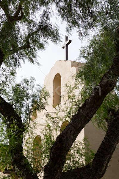 Cloudy day at Santa Ines Mission California Stock photo © backyardproductions