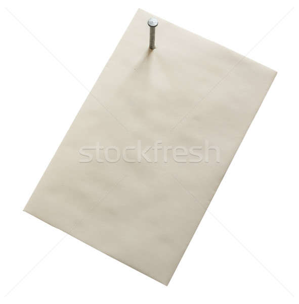 Envelope nailed through corner Stock photo © backyardproductions