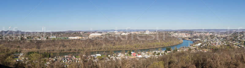 Stad West Virginia panoramisch skyline stadsgezicht home Stockfoto © backyardproductions