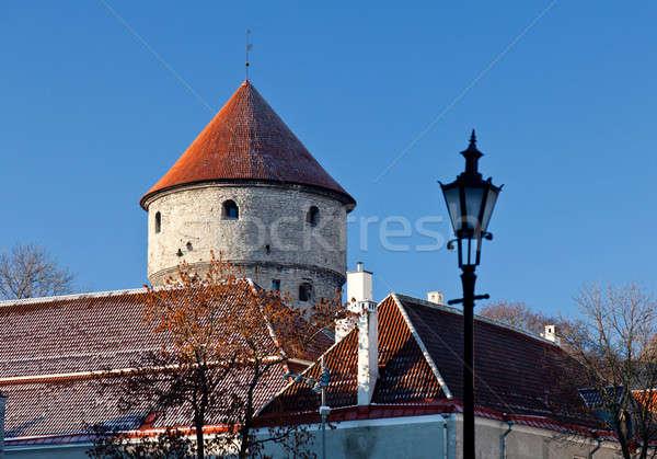 Town wall tower in Tallinn Stock photo © backyardproductions