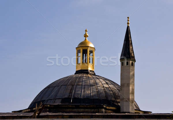 Minaret in Istanbul Stock photo © backyardproductions