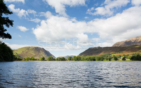 Réflexions lake district montagnes calme lac anglais Photo stock © backyardproductions
