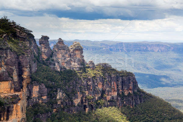 Three Sisters in Blue Mountains Australia Stock photo © backyardproductions