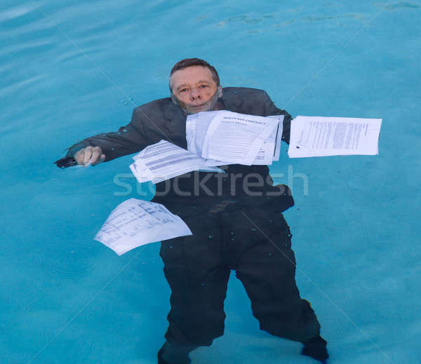 старший человека ипотечный заем документа Сток-фото © backyardproductions